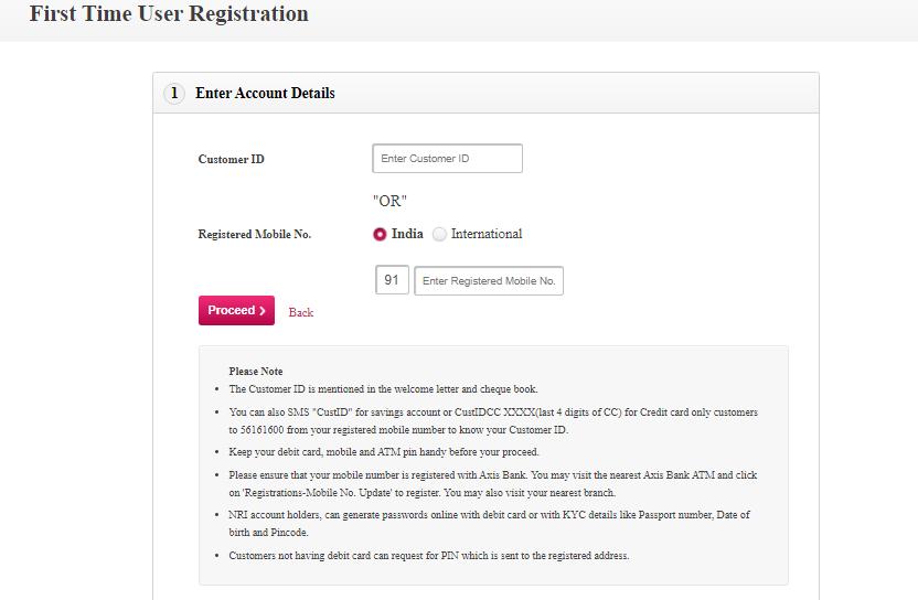 Axis registration using paidkiya