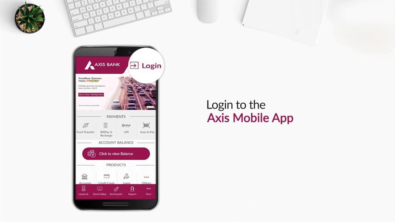 Axis mobile login using paidkiya