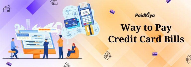 Credit Crad bills pay using another credit card via Paidkiya